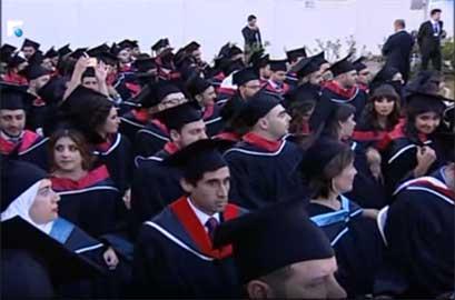 Rafik Hariri University graduation ceremony featured in Future tv-news
