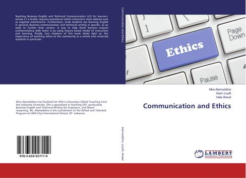 RHU faculty member publishes a new book on Communications and Ethics