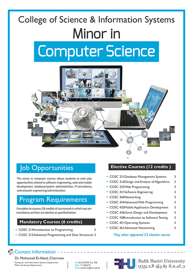RHU introduces a minor in Computer Science!