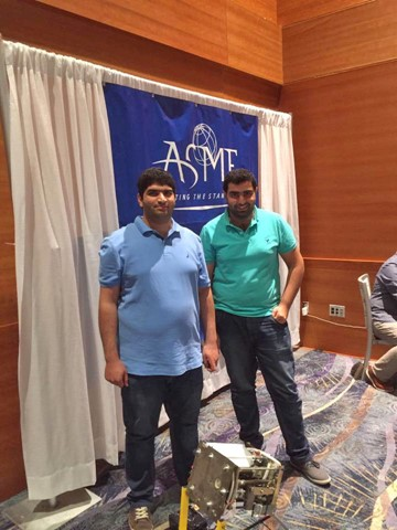 RHU ASME 8th worldwide in ASME Student Design Competition