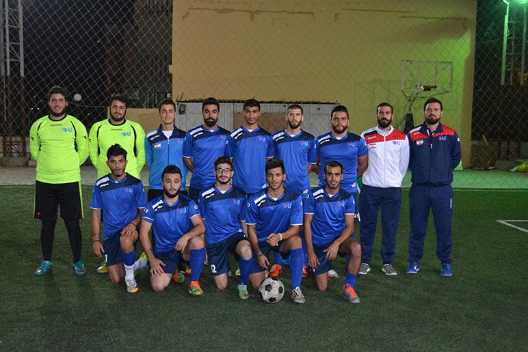 RHU Football team maintains the lead in the Mini-Football Championship