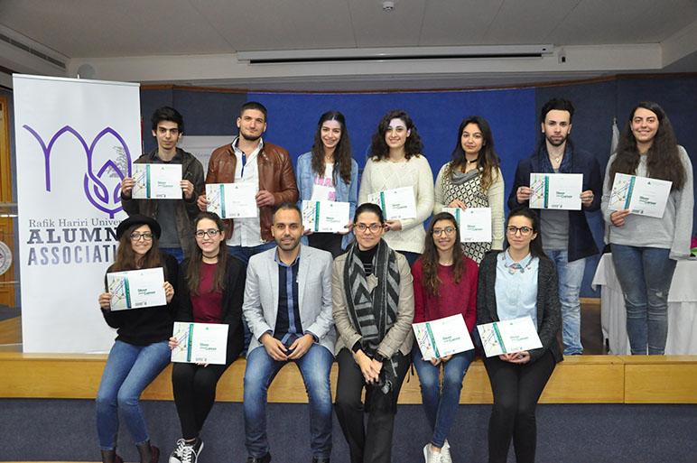 """Steer Your Career"" workshop by RHU Alumni Association and INJAZ Lebanon at RHU"
