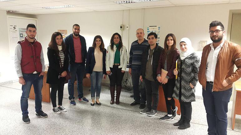 RHU students visit the weather station at Rafik Hariri International Airport