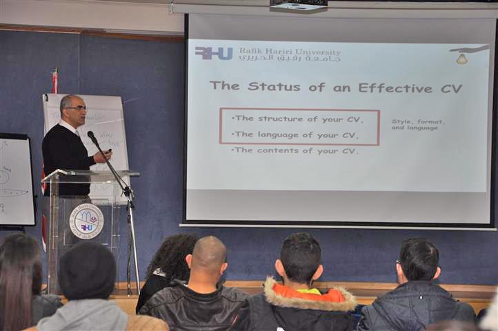"""""""How to write an effective CV"""" in a seminar at RHU"""