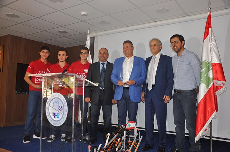 Rhu Honoring Ceremony For Team Lebanon Winner In First Global