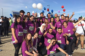 RHU at the 2017 Beirut Marathon: Runs for Himaya against child abuse