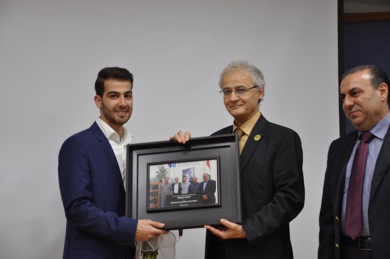Rafik Hariri University honors two young innovators from Lebanon