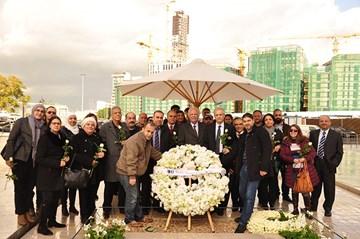 RHU visits martyr Rafik Hariri memorial shrine on the 13th anniversary of his assassination