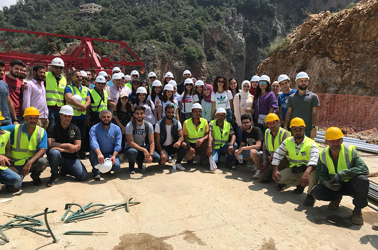 RHU civil engineering students visit the cantilever bridge in North Lebanon