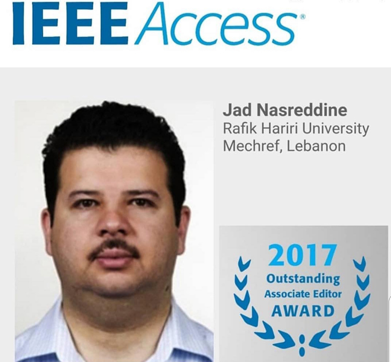 RHU engineering faculty member is a 2017 IEEE Access Outstanding Associate Editor
