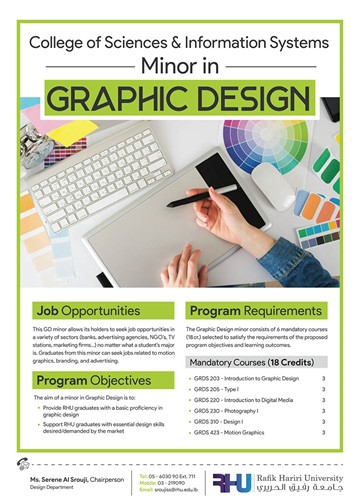 RHU introduces a minor in Graphic Design