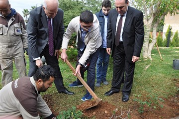 The Rafik Hariri White rose planted in the RHU gardens on the anniversary of his profound martyrdom