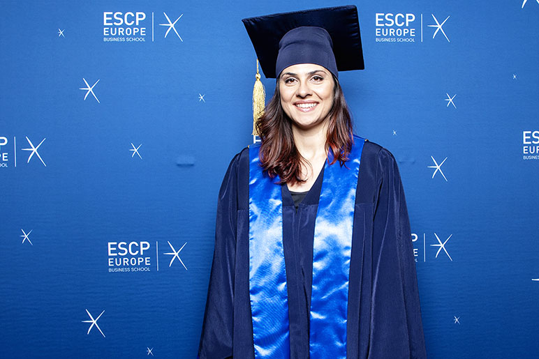 RHU alumna receives her EMBA from ESCP and ESA