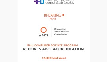 RHU Computer Science program receives ABET accreditation