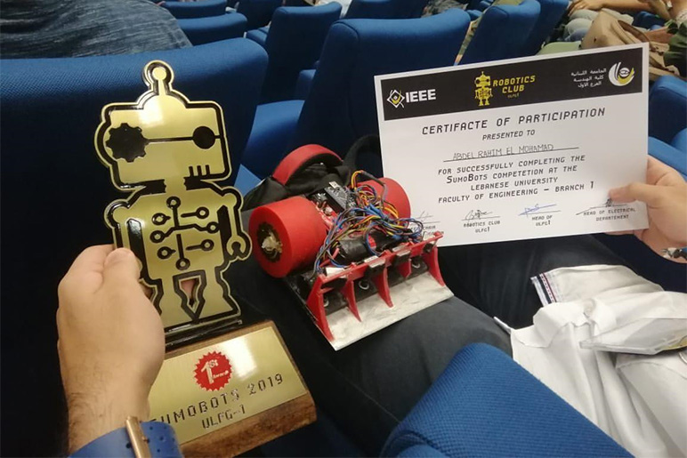RHU STC teams wins first place in the SumoBots robotics competition