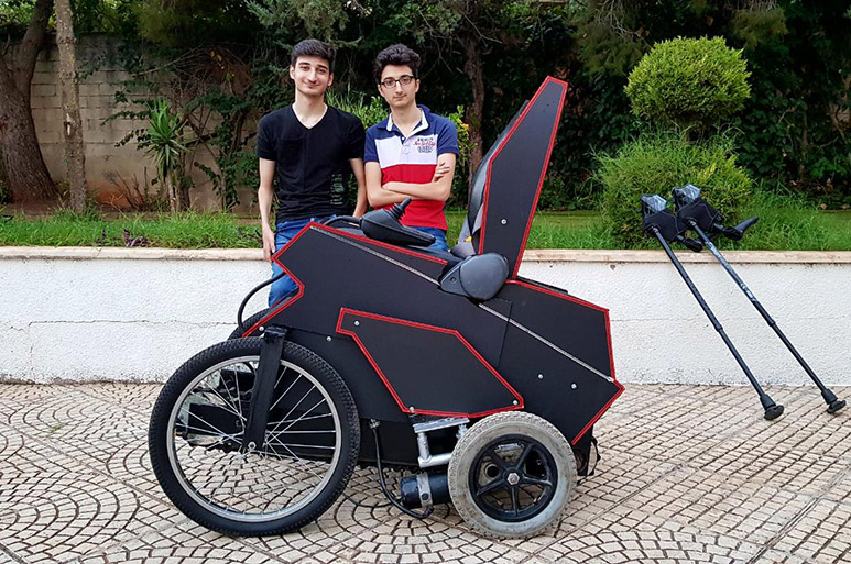 RHU student invents Soarni, an electric wheelchair that improves user mobility