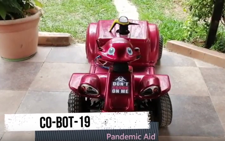 RHU engineering student develops remotely-operated CO-BOT-19 in response to COVID-19 pandemic