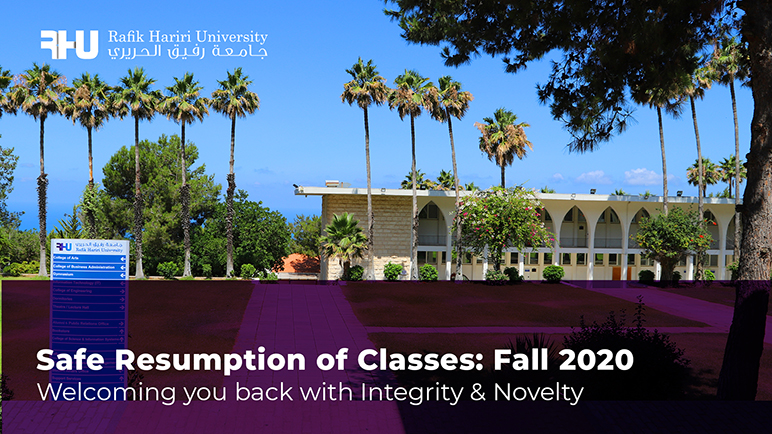 Safe Resumption of Classes: Fall 2020