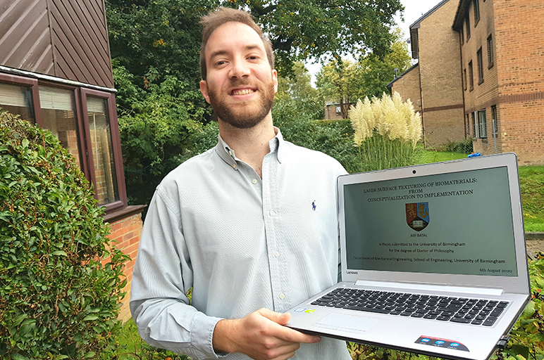 RHU engineering alumnus earns his doctorate and holds a renowned position in the United Kingdom