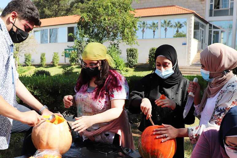 RHU Design Society hosts a pumpkin carving event