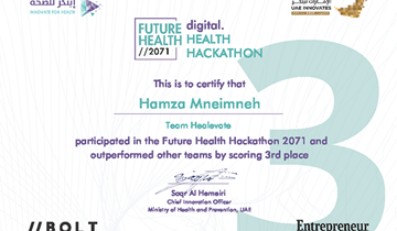 Proudly the third place for RHU students in the Future Health Hackathon 2071